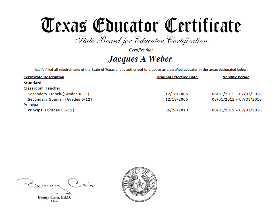 documentation - mr. jacques a. weber, m.ed.international learning leader